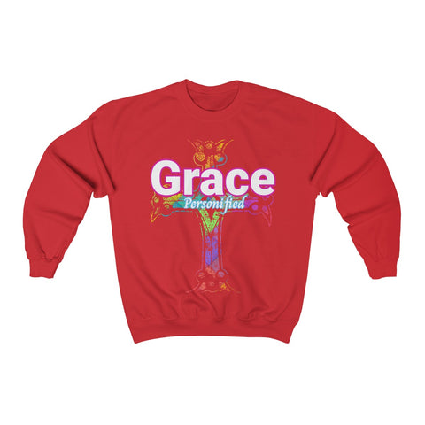 "Image of A ""Grace"" Religious or Christian Sweatshirt"