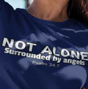 Image of Guardian angels shirt is one of our cool Christian shirts for women!
