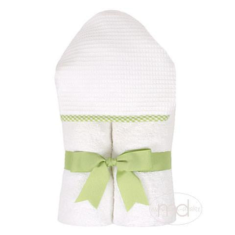 3 Marthas  Green Gingham Hooded Towel