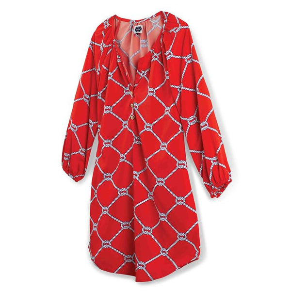 Mudpie Reese Tunic Red Knotical- S