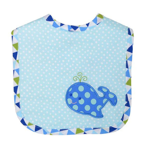 3 Marthas Blue Whale waves feeding bib