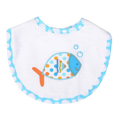 3 Marthas Blue Fish medium bib