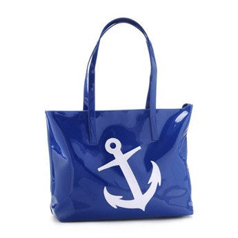 Lolo Amy Tote - Navy w/ White Anchor