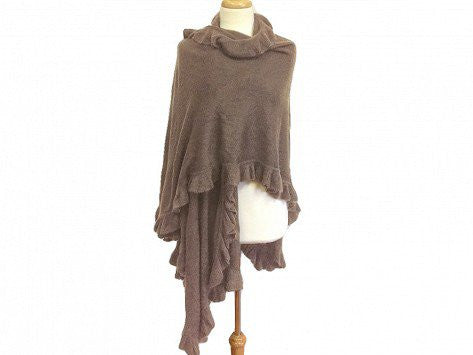 April Marin City Ruffle Shawl - Camel