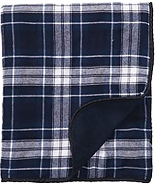 Boxercraft Flannel Blanket - Navy/White