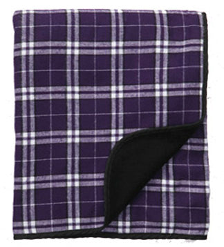 Boxercraft Flannel Blanket - Purple/White
