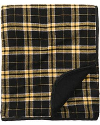 Boxercraft Flannel Blanket - Black/Gold