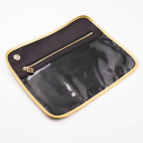 Royal Standard Clear Pouch - LG - Black/Gold