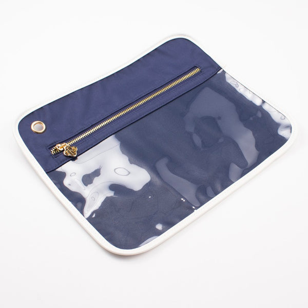 Royal Standard Clear Pouch - LG -- Navy/White