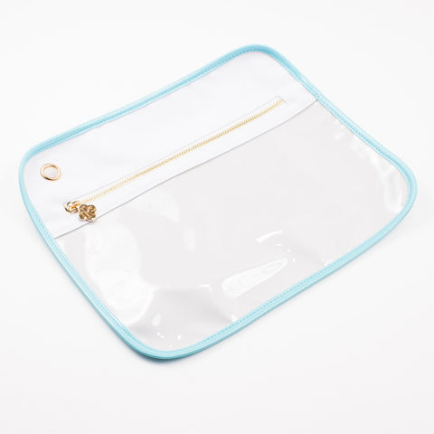 Royal Standard Clear Pouch - LG - White/Mint