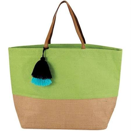 Mudpie Color Pop Tote Green