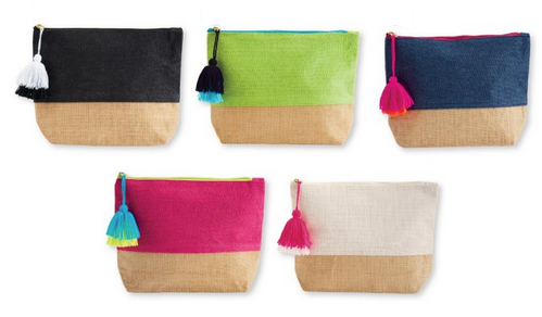 Mudpie Color Pop Jute Case - Assorted Colors
