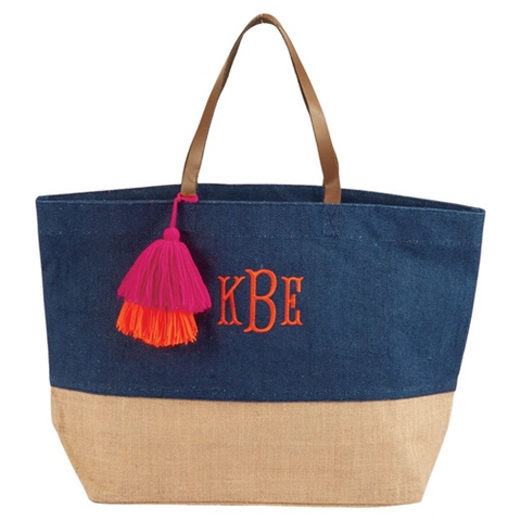 Mudpie Color Pop Tote Navy