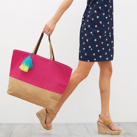 Mudpie Color Pop Tote Pink