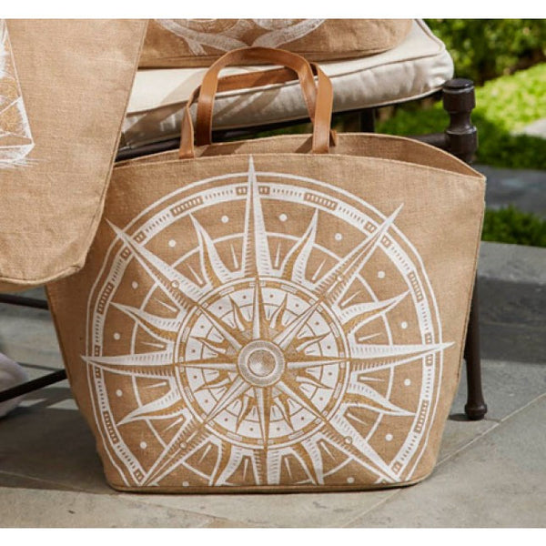 Mud Pie Aweigh We Go Tote - Compass