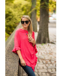 April Marin Poncho - Coral