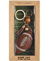 Two's Company Keychain- Football