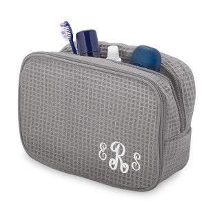 Terry Town Waffle Cosmetic Case - Gray