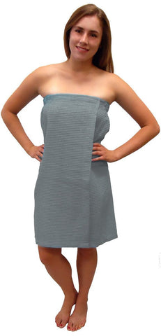 Terry Town Waffle Wrap - Gray