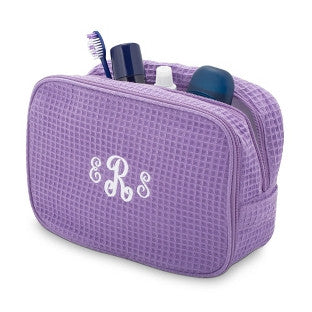 Terry Town Waffle Cosmetic Case - Lavender