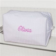 Terry Town Waffle Cosmetic Case - White