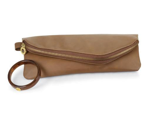 Mud Pie Cuff Clutch - Camel