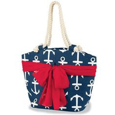 Mud Pie Beachcomber Sarong Tote - Anchor