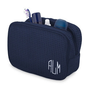 Terry Town Waffle Cosmetic Case - Navy