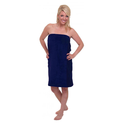 Terry Town Waffle Wrap - Navy