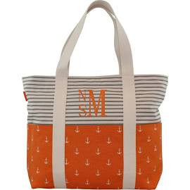 CB Station Orange Anchor Tote