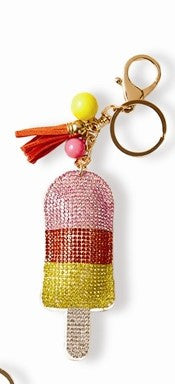 Two's Company Palm Beach Key Chain - Popcicle