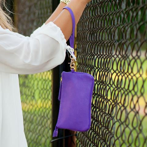 WB Purple Wristlet