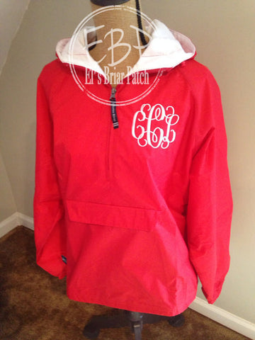 Charles River Solid Lined Pullover - Red - LG