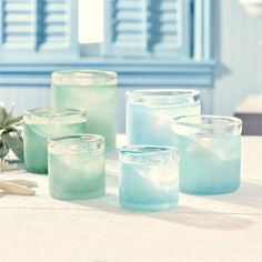 Two's Company Seaglass Tealight set of 3