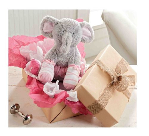 Mud Pie Plush Elephant w/Socks