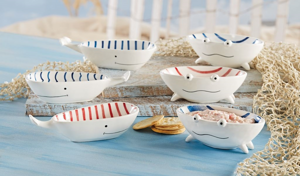 Mudpie Stacked Dip Cup Set - Whales