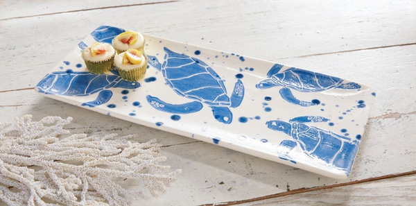 Mudpie Stamped Turtle Hostess Tray