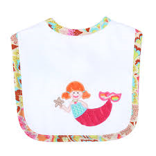 3 Marthas Merry Mermaid Feeding Apl Bib