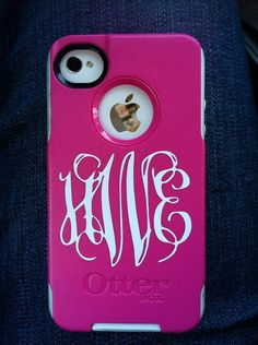 Phone Monogram Decal