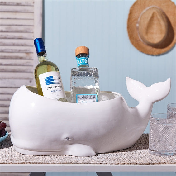 Two's Company Whale Planter / Beverage Tub