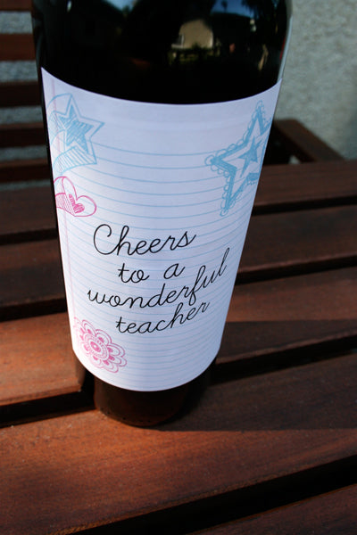 wine label printable the school year is just wrapping up and of course i am scrambling at the last minute for the perfect teacher gift