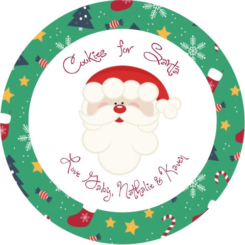 Cookies For Santa Plate ~ Holiday Print ~