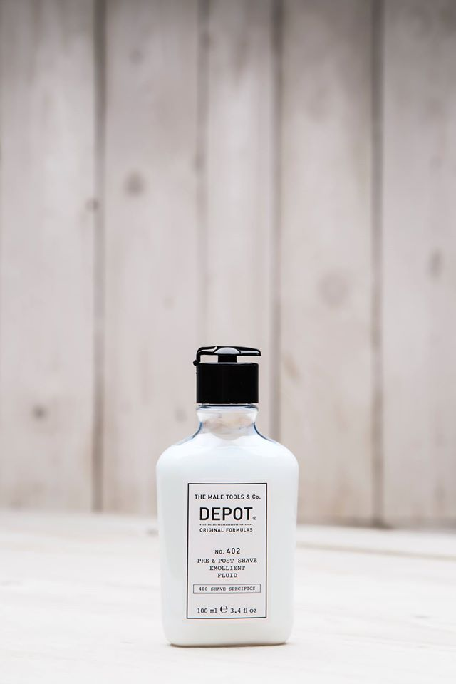depot NO. 402 pre & post shave emollent fluid