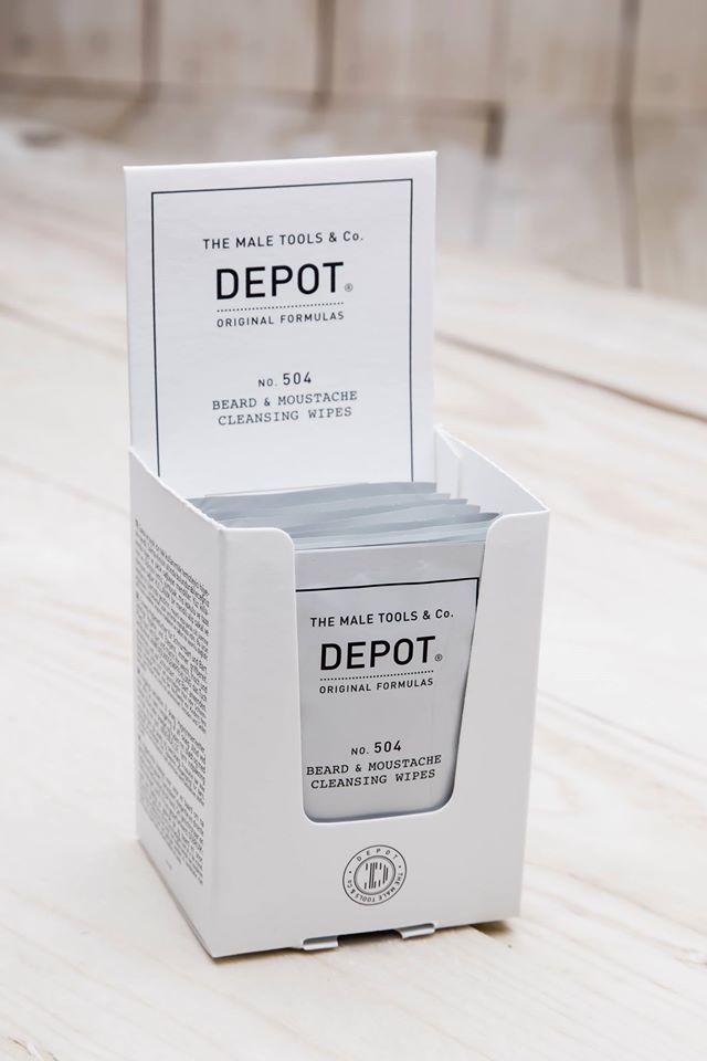 Depot NO.504 Beard And Moustache Cleansing Wipes