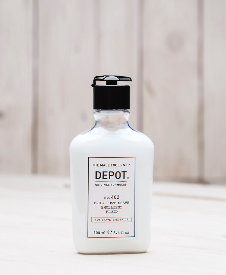 depot NO.402 pre and post shave emollient fluid