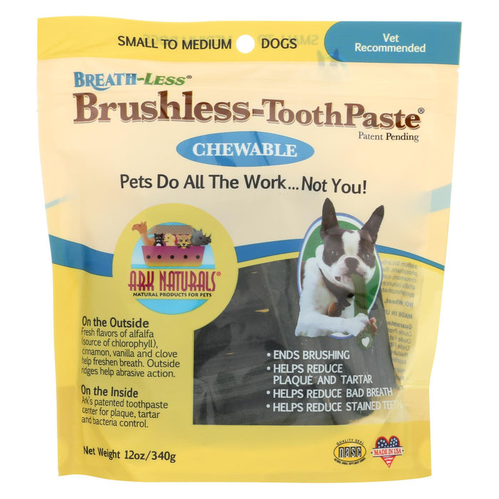 Ark Naturals Breath-less Brushless Toothpaste - 12 Oz - Ark Naturals - Pets