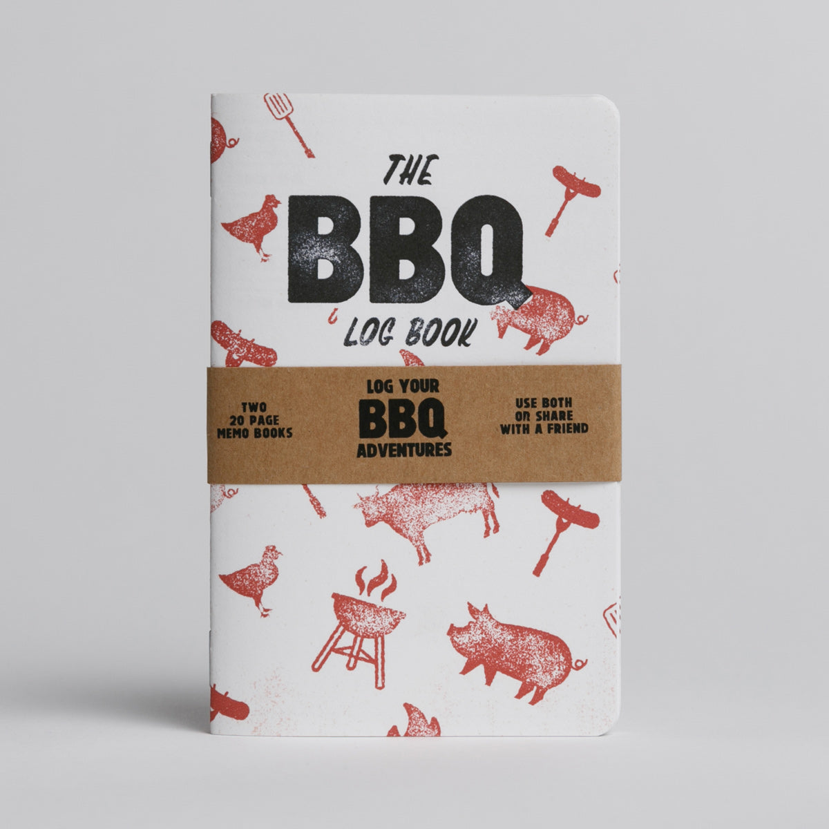 BBQ Log Book - Two 20-page books