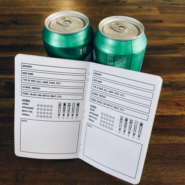 Beer Log Book - Two 20-page books
