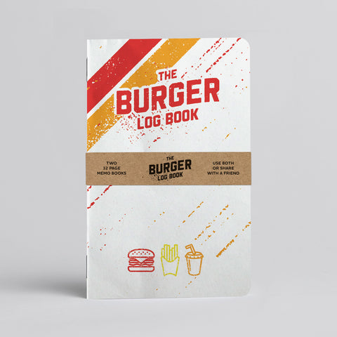 Burger Log Book - Two 20-page books