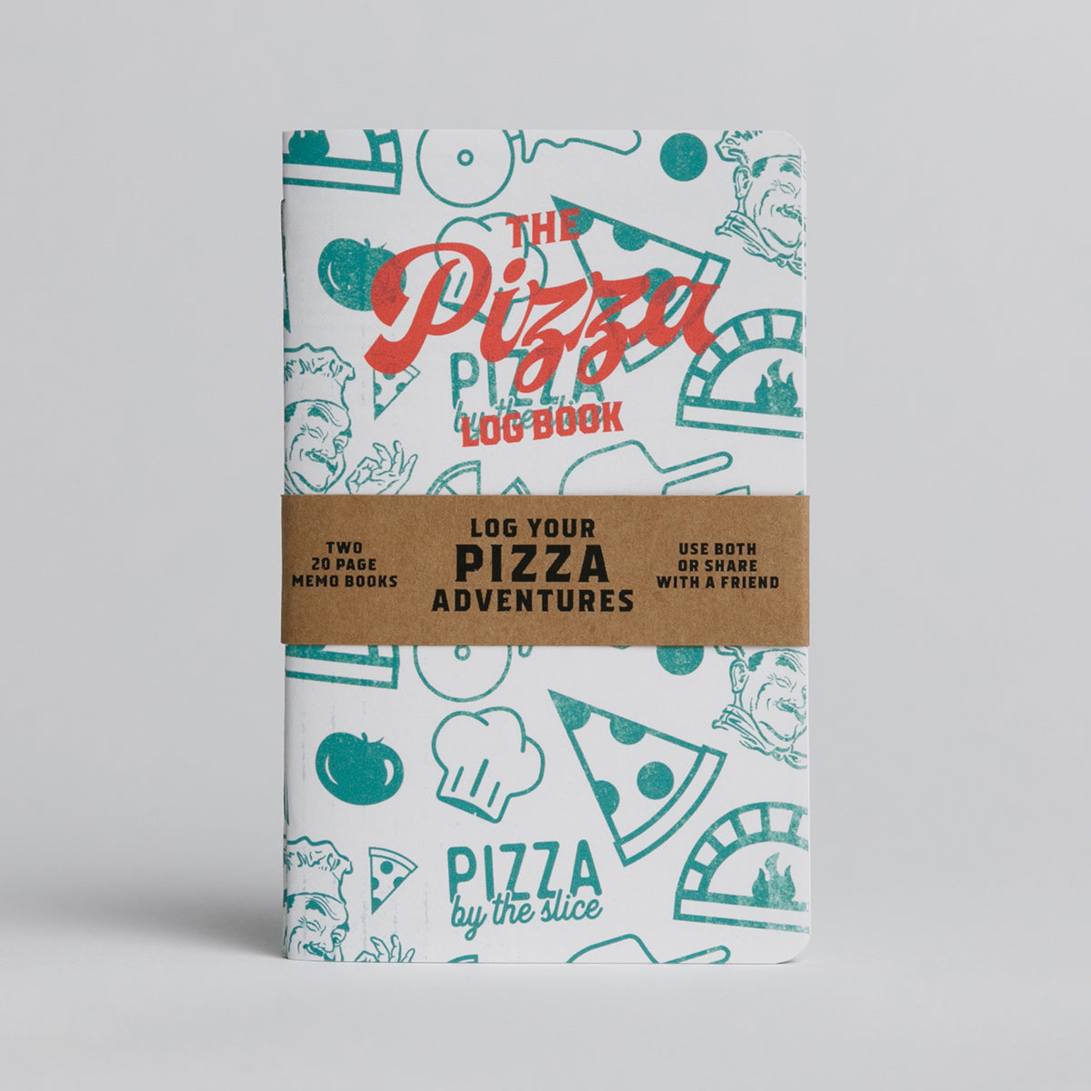 Pizza Log Book - Two 20-page books